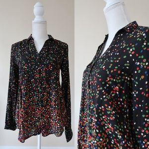 ANTHROPOLOGIE Multi Color Printed Blouse, 2